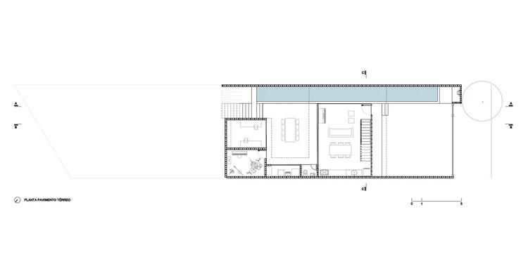 Planta Térreo - Casa Guaianaz / Terra e Tuma Arquitetos Associados