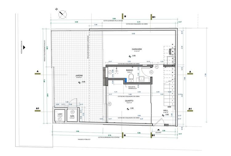 Planta Térreo - Casa Luís Delfino / Pimont Arquitetura
