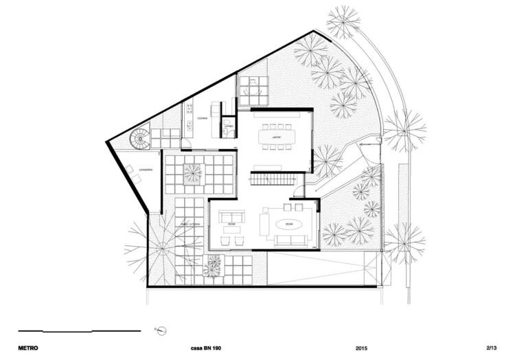 Planta Térreo - Residência Bento Noronha / Metro Arquitetos