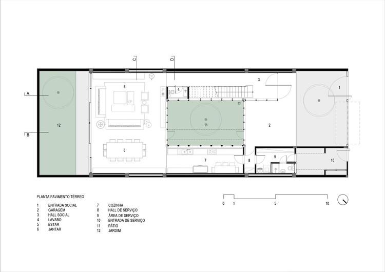 Planta Térreo - Casa na Rua Ceuta / ARQLAB