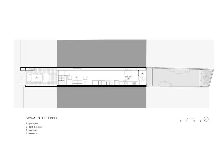 Planta Térreo - Casa 3x33 / 23 SUL