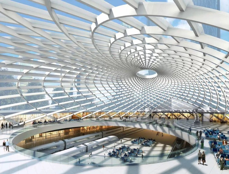 """""""Transform the City into a Highly Complex Block System"""": SOM on TOD Projects, Tianjin High-Speed Rail Station"""