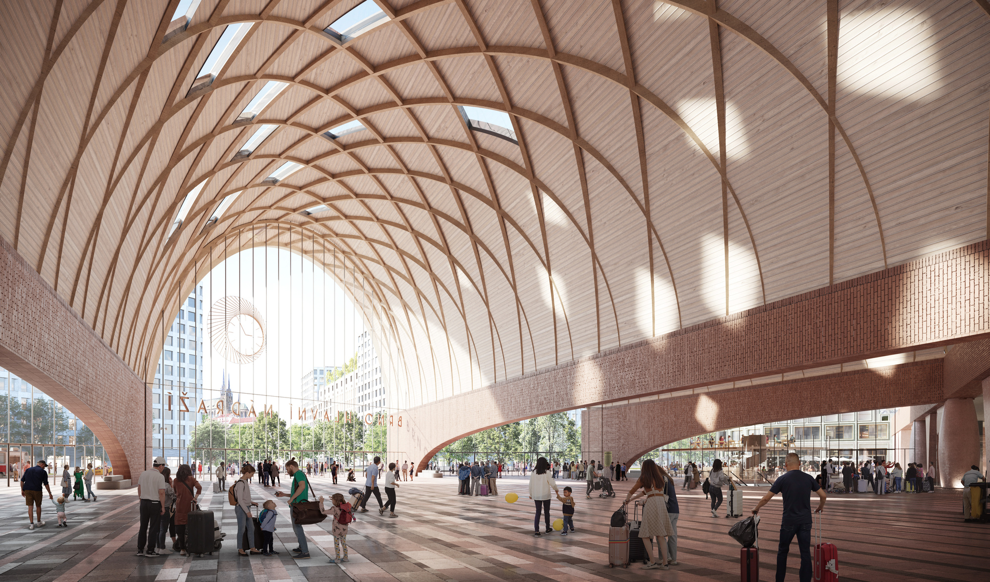 Benthem Crouwel + West 8 Win Competition for New Brno Main Station   ArchDaily