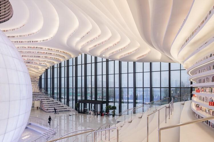Библиотека Тяньцзинь Биньхай / MVRDV + Институт городского планирования и дизайна Тяньцзинь.  Фото: © Осип ван Дуйвенбоде