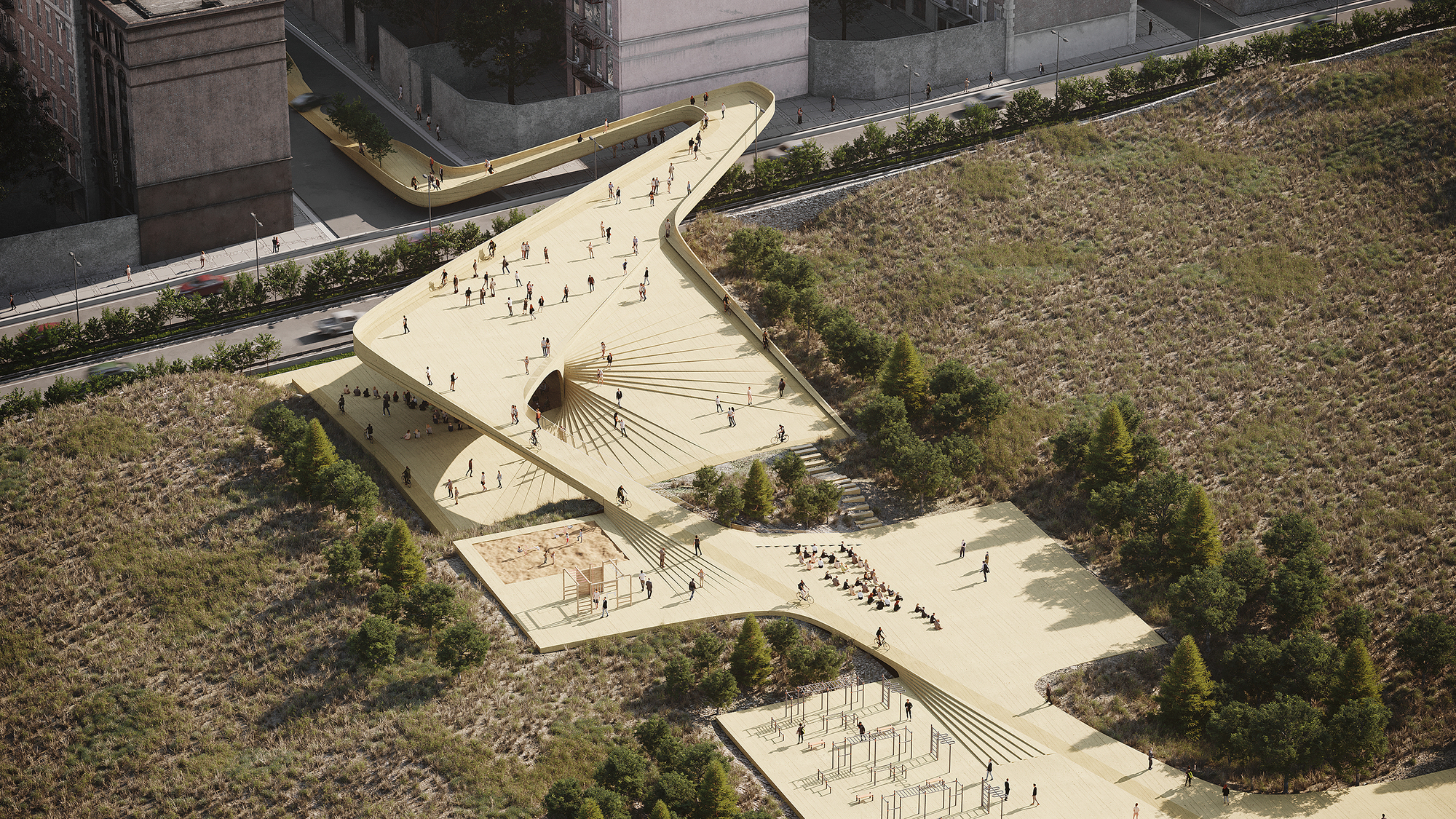 An Office Tower Turned into Housing in the US and a Circular School Design in Ethiopia: 10 Competition-Winning Projects Submitted to Archdaily