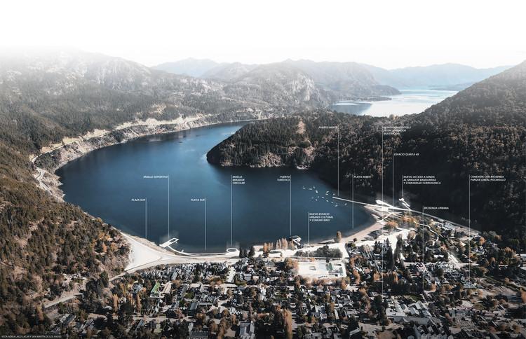 Parq + Ballesteros Arquitectos diseñan la refuncionalización costera del Lago Lacar en Neuquén, Argentina, Primer Premio. Image Cortesía de Ballesteros Arquitectos