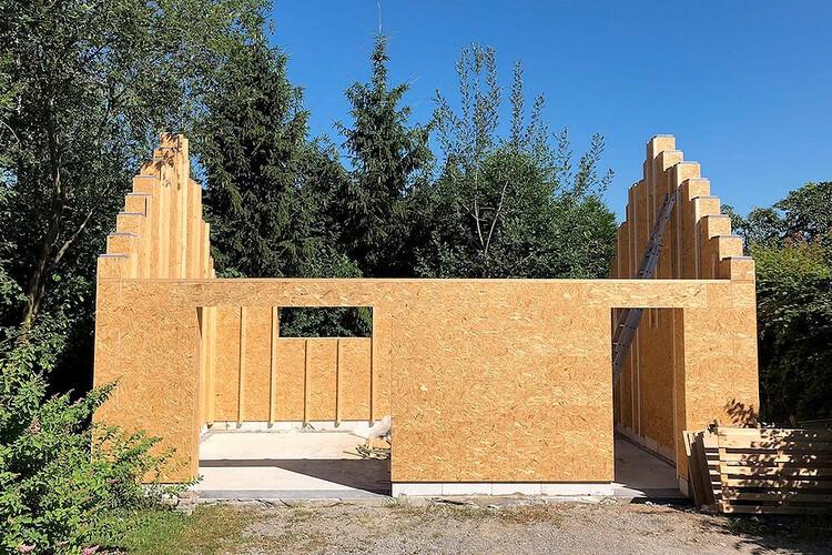 Casas de madeira são construídas com blocos tipo LEGO na Bélgica, Cortesia de Gablok / Divulgação
