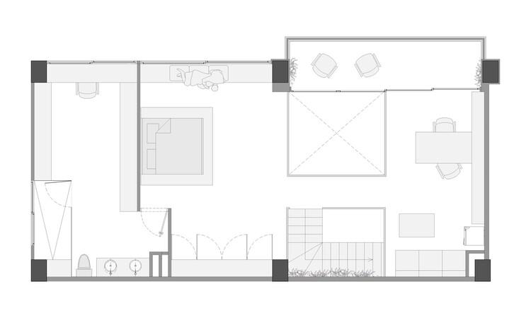 План этажа - Zagal Loft / Tangible