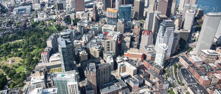 The Shape of Our Existing Buildings, downtown Boston. Image via Boston Planning & Development Agency.