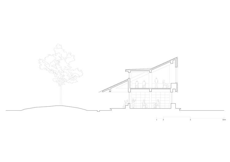 Раздел.  Изображение предоставлено Wall Architects из XAUAT