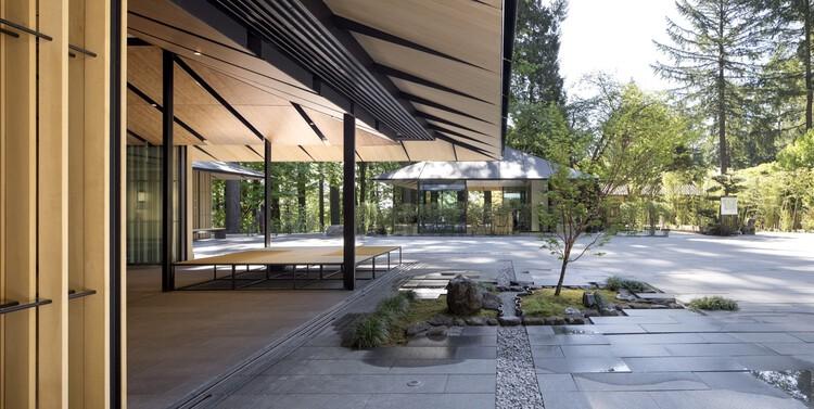 Культурная деревня Портлендского японского сада.  Изображение © Джереми Биттерманн