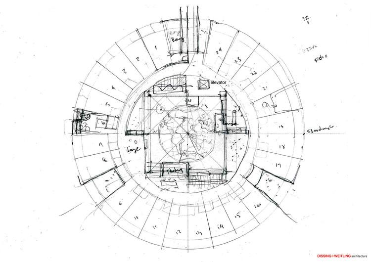 Como resolver plantas circulares adequadamente, Courtesy of DISSING+WEITLING Architecture