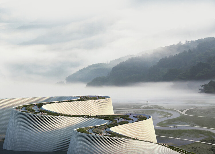 El panorama de la construcción en China: Importantes inversiones en infraestructura cultural y nuevos límites para la altura de los rascacielos, Shenzhen Natural History Museum. Image Courtesy of 3XN