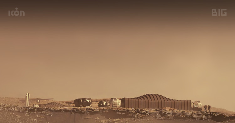 BIG, NASA e ICON revelan instalaciones de investigación construidas con impresión 3D para Marte, © ICON / BIG