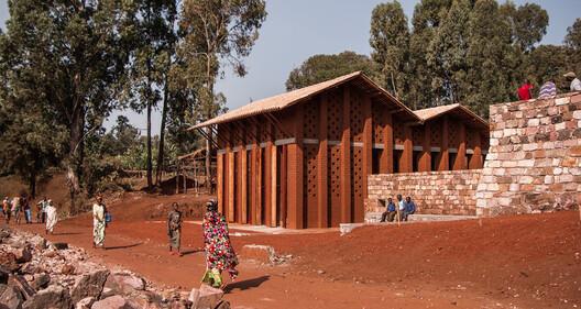 Library of Muyinga. Image Courtesy of BC Architects