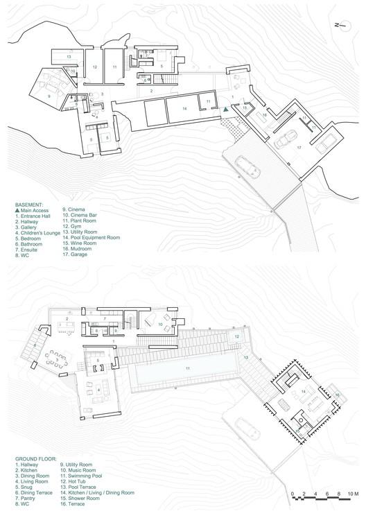 Ground floor and ground floor plans