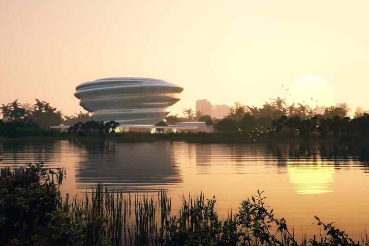 MAD divulga imagens para o Museu de Ciência e Tecnologia de Hainan na China, Cortesia de MAD