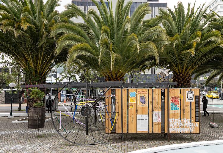 Instalación Archivo vivo de las luchas sociales / La Cabina de la Curiosidad + Marie Combette + Daniel Moreno Flores, © JAG Studio