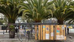 Instalación Archivo vivo de las luchas sociales / La Cabina de la Curiosidad + Marie Combette + Daniel Moreno Flores