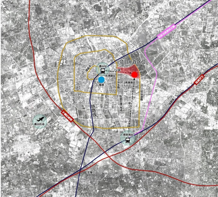 Location Schematic Diagram I of the Yangtze River Delta International Medical Center
