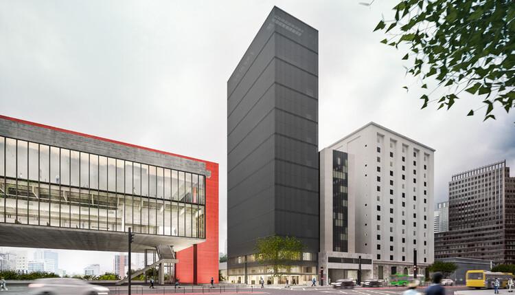MASP terá anexo de 14 andares na Av. Paulista projetado pela Metro Arquitetos, Imagem: Metro Arquitetos/Divulgação