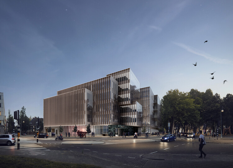 OMA / David Gianotten Designs New Office Building in Amsterdam, Courtesy of OMA and Kroonenberg Groep