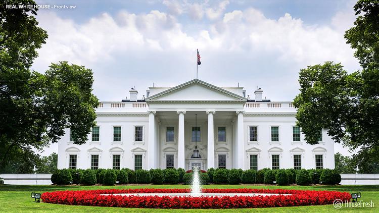 Serie de renders visualiza cinco propuestas finalistas del concurso para la Casa Blanca de Estados Unidos en 1791, Propuesta construida. Image © HouseFresh