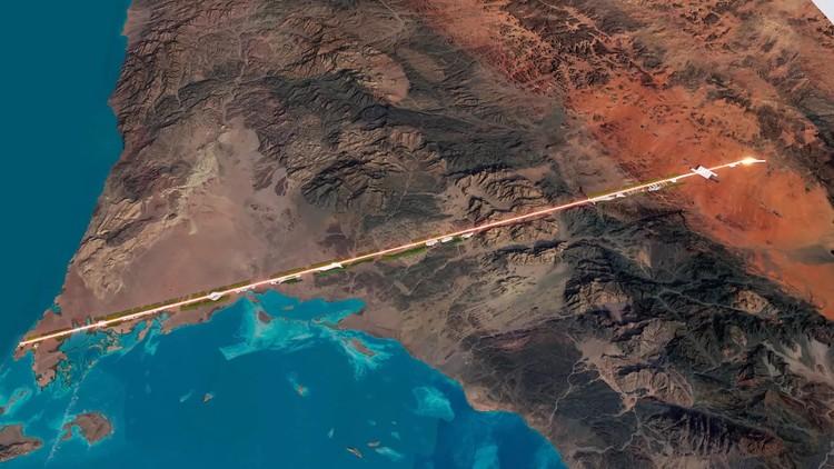 O que são cidades lineares?, Arábia Saudita divulga planos de construir cidade linear de 160 quilômetros de extensão. Cortesia de NEOM.