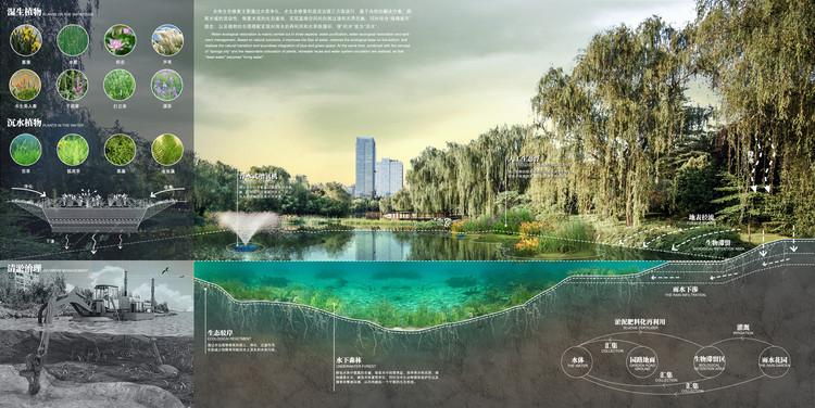 Дноуглубительное озеленение.  Изображение предоставлено Северо-западным институтом дизайна и исследований архитектуры Китая