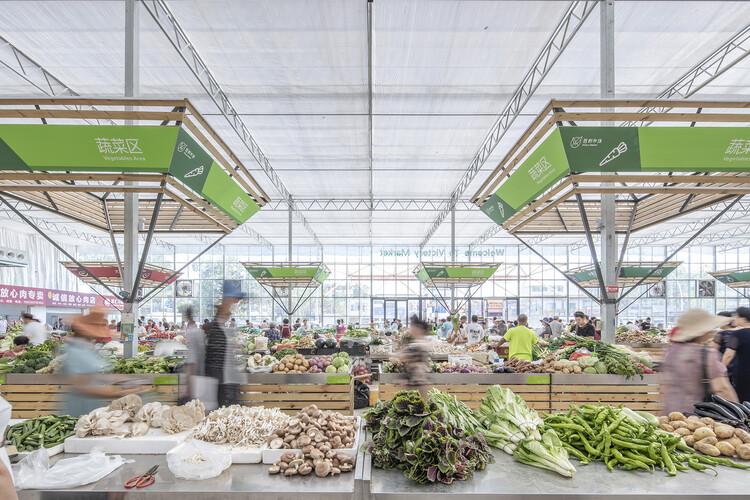 Временный сайт рынка Шэнли от студии LUO.  Изображение © Weiqi Jin