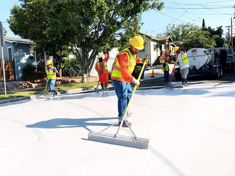 © Департамент общественных работ города Лос-Анджелеса, Бюро уличных служб через deMilke.  Изображение