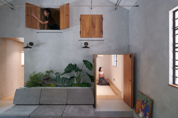 Yongjia Road Youth Shared Space Design / Greyspace Architecture Design Studio, Szene des Wohnzimmers.  Bild © Hao Chen