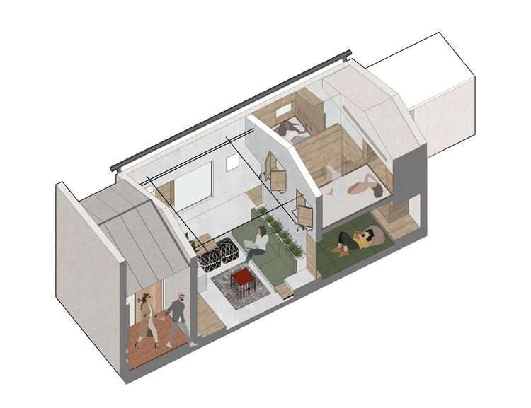 Isometrische Ansicht.  Bild mit freundlicher Genehmigung von Greyspace Architecture Design Studio
