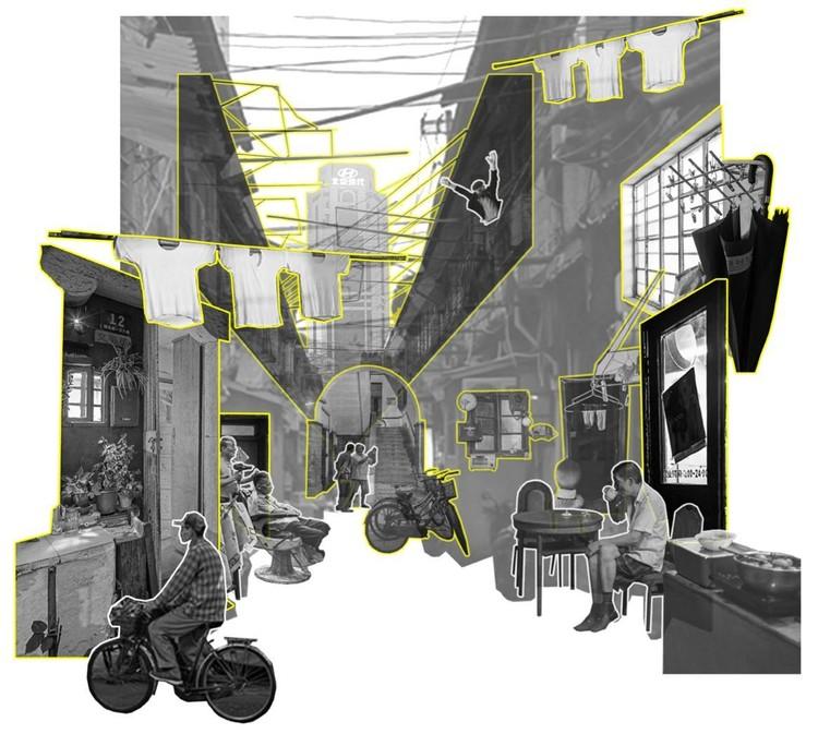 Bild von historischen Straßen in Shanghai.  Bild mit freundlicher Genehmigung von Greyspace Architecture Design Studio