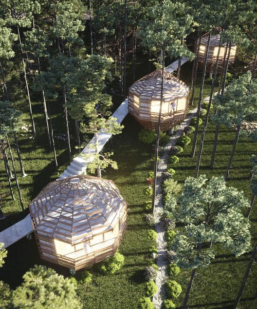 Дом Sa Mộc.  Изображение предоставлено D12 Design