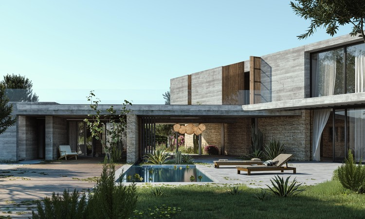 A Circular Summer Retreat and a Native-Tree Inspired Bungalow: 11 Unbuilt Villas Submitted to ArchDaily, D Residence. Image Courtesy of Jemma Chidiac Achitects _ By JPAG.co