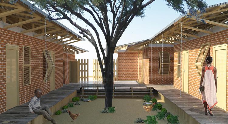 Дом для семьи Джореджик.  Изображение предоставлено Хаджером Бозкуртом и Камиле Озтюрк Кёсенцио