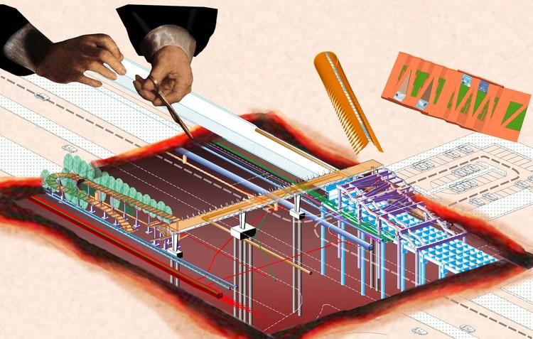 `` Анатомическая схема '' подземных работ моста: все виды инфраструктуры скрыты под кожей, и на каждой площадке моста необходимо точно контролировать
