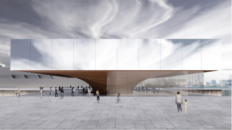 An Art Beacon in Finland and A Museum Along A Pier: 9 Unbuilt Museum Projects Submitted to Archdaily, Shanghai Submarine Museum by PES-Architects. Image © Hansinok, PES-Architects