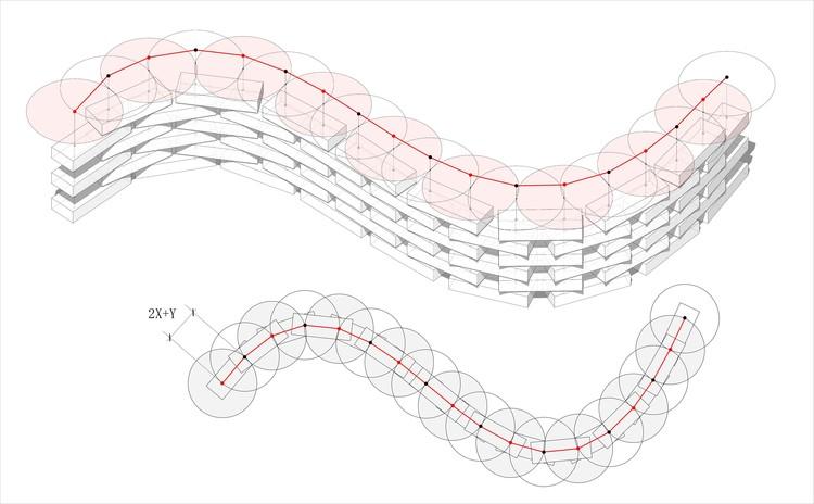 Анализ технологичности стеклоблока.  Изображение предоставлено Lacime Architects
