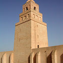 Minaret of Kairouan Mosque. Image via Wikimedia Commons (CC BY-SA 2.0)