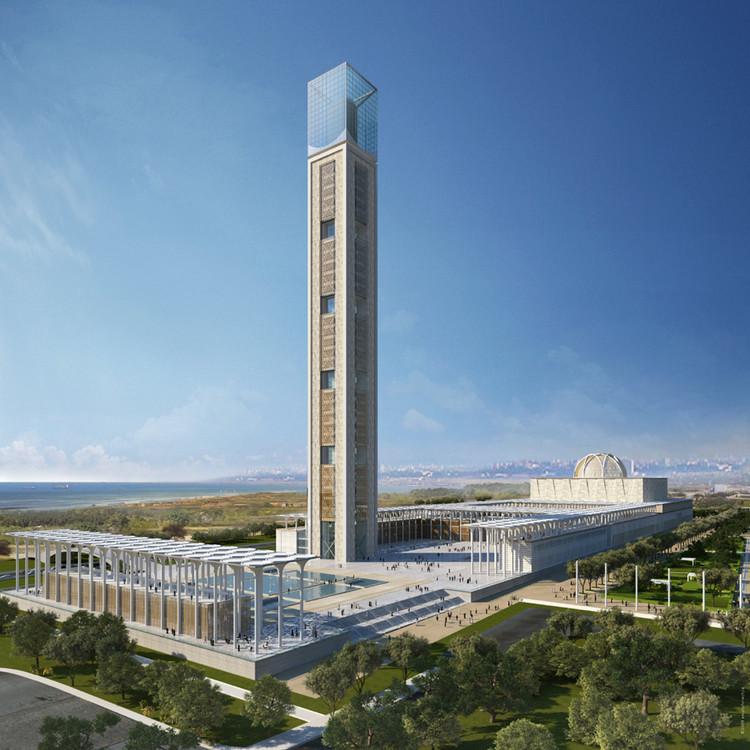 Mosquée d'Algérie / KSP Juergen Engel Architekten. Image Courtesy of KSP Juergen Engel Architekten
