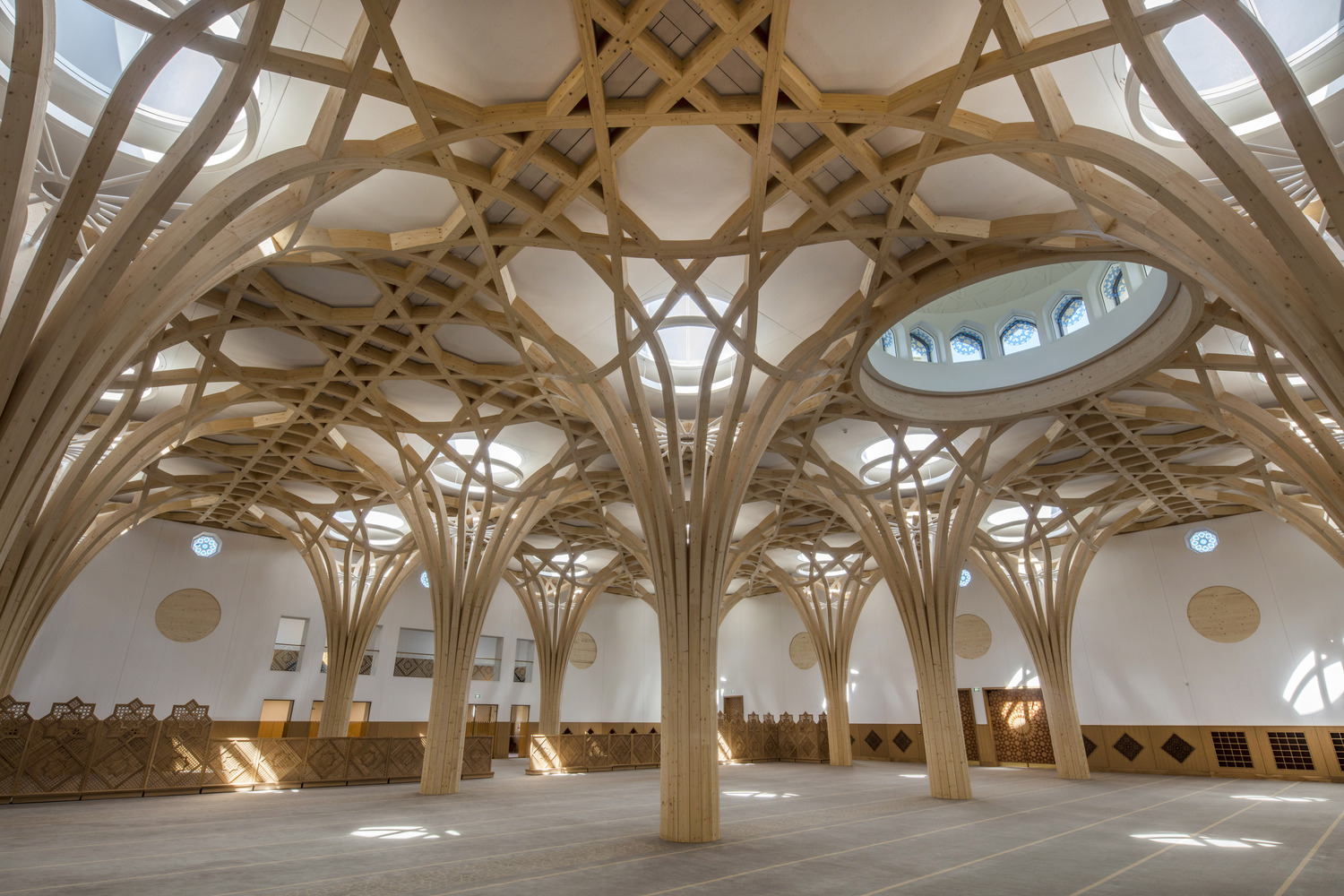 RIBA Announces 2021 National Award Winners Highlighting UK's Best New Buildings,Cambridge Central Mosque by Marks Barfield Architects  . Image © Morley von Sternberg