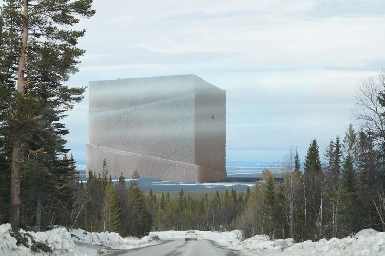 Anders Berensson Architects diseña la estructura de madera más grande del mundo: Un banco para almacenar el mismo material, Cortesía de Anders Berensson Architects