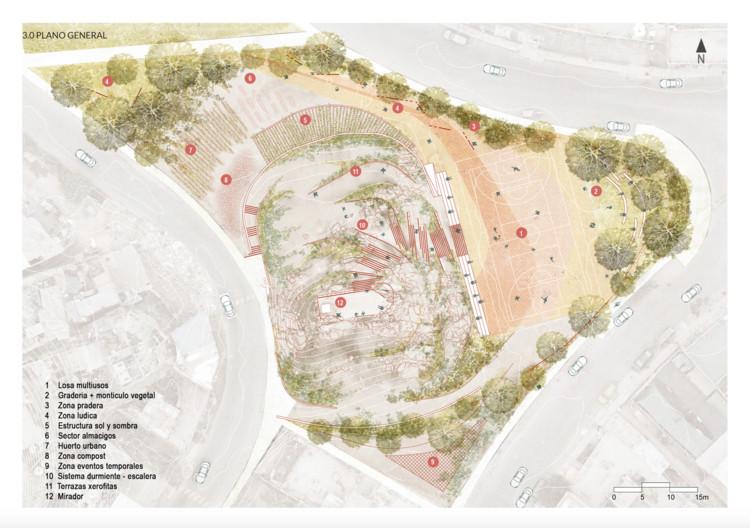 planta proyecto ENTRE PIEDRAS Y XEROFITAS. Image vía BIALIMA 2021