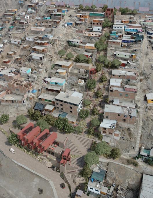 Conoce los proyectos ganadores para rehabitar las Laderas en San Juan de Lurigancho, Perú, render proyecto RIZOMA. Image vía BIALIMA 2021