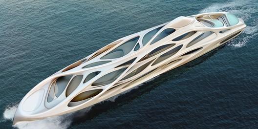 Unique Circle Yachts designed by Zaha Hadid Architects for Bloom+Voss Shipyards. Image © Zaha Hadid Architects