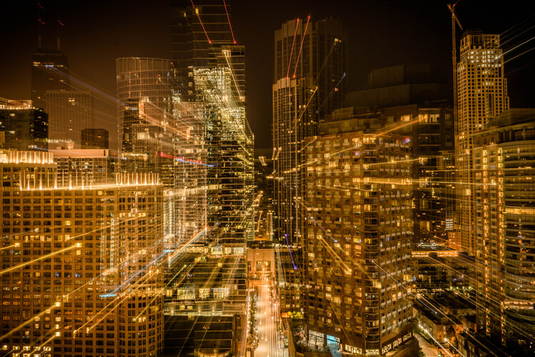 Zoom in on Chicago.  Photo © Benjamin Fuenzalida