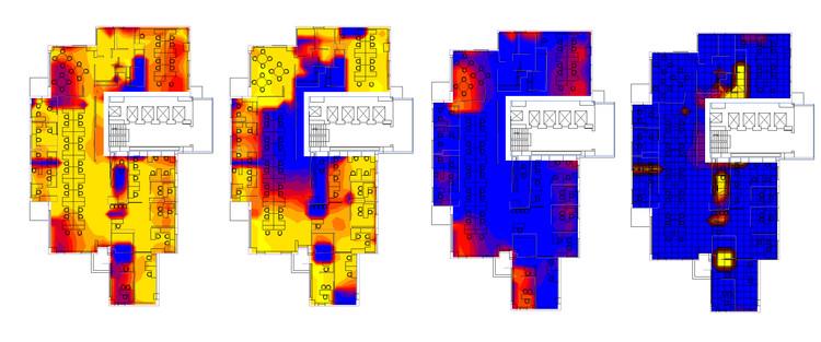 Por qué es necesaria una evaluación post-ocupacional del confort lumínico en los edificios de oficina , Fuente: elaboración de autores.. Image Cortesía de Revista Dearq