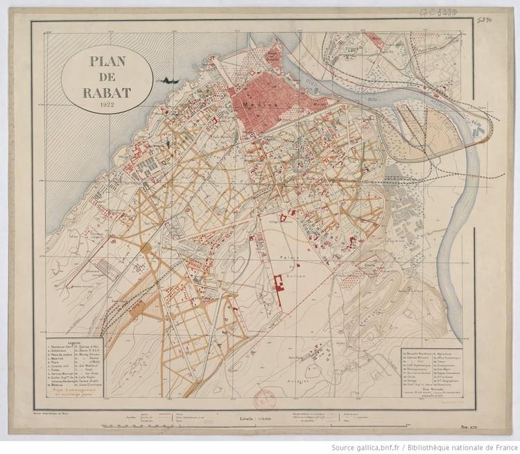 1922 Map of Rabat. Image © Bibliothèque nationale de France